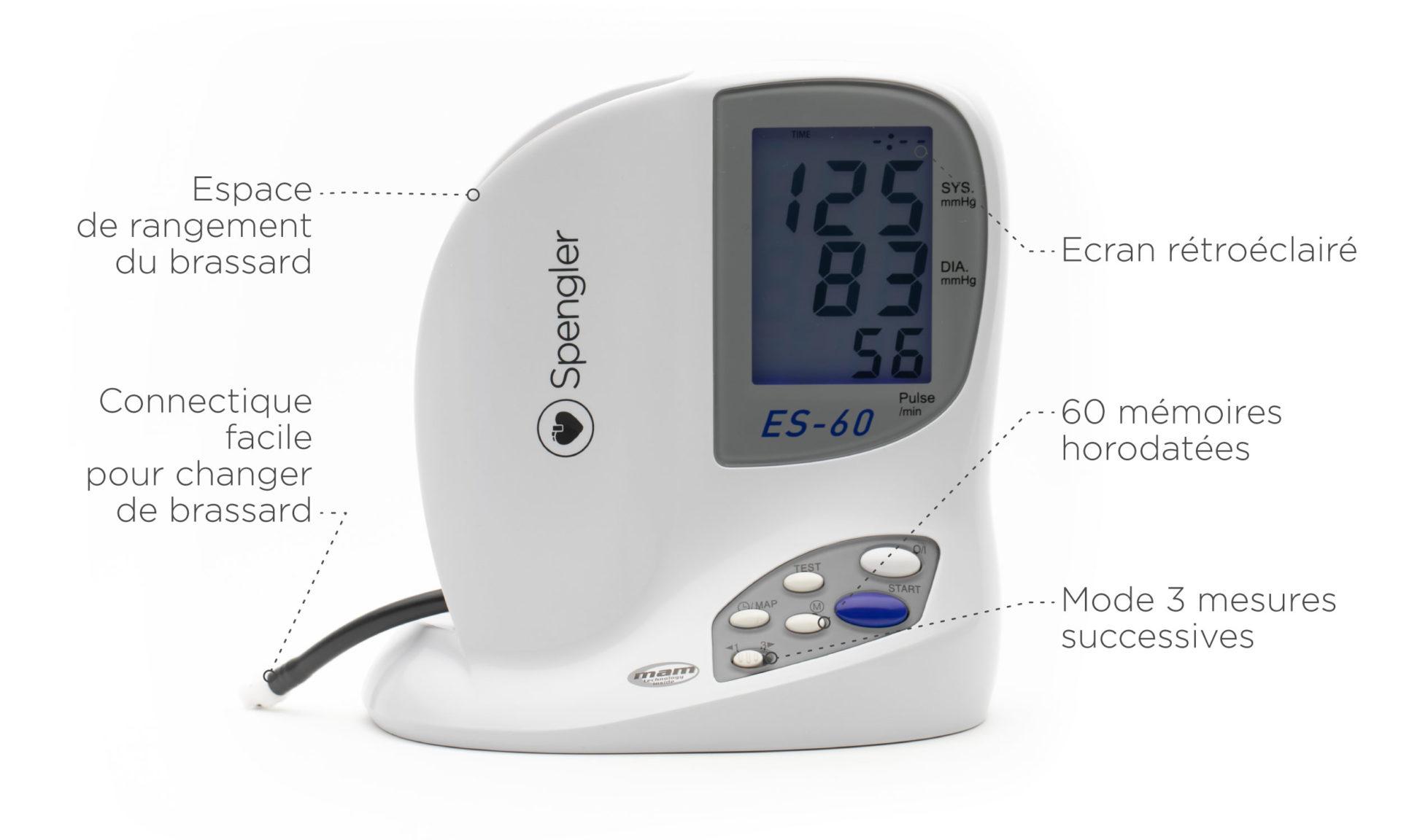 Tensiomètre électronique professionnel ES-60