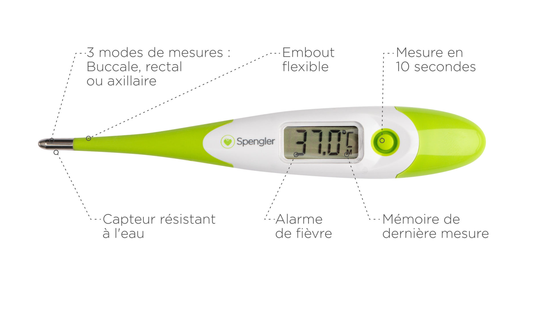 Thermomètre rectal Tempo 10 Flex embout flexible